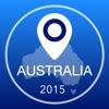 オーストラリアオフライン地図+シティガイドナビゲーター、観光名所と転送