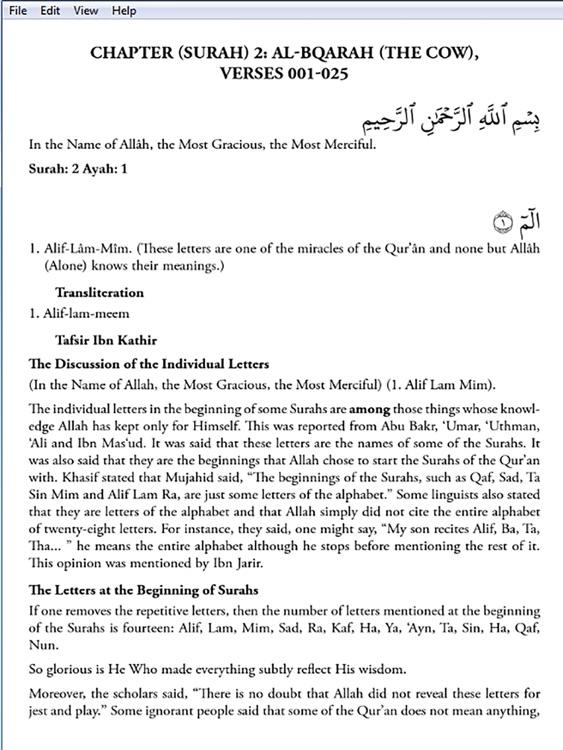 Ibn Kathir's Tafsir: Part 1 for iPad screenshot-4