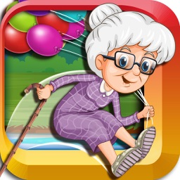 Help Grandma Jump Through the River to Escape from the Crocodiles