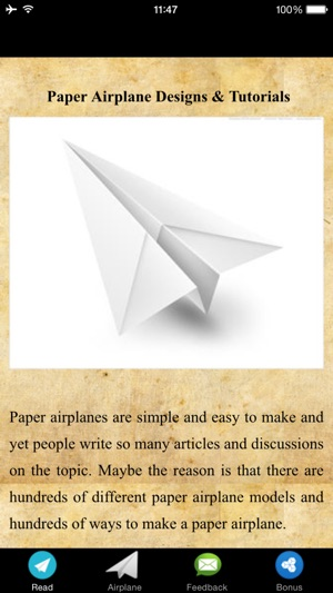 Paper Airplane Designs Tutorials On The App Store