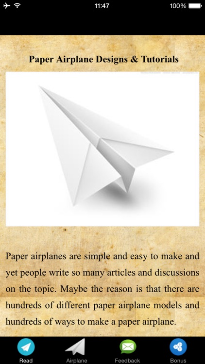 Paper Airplane Designs & Tutorials screenshot-1