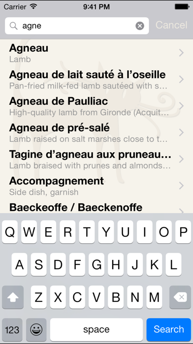 Bon appétit - French food and drink glossary Screenshots
