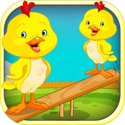 An Easter Chicken Seesaw for Kids - Awesome Marshmallow Peep Catch FREE