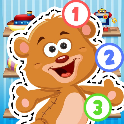 Kids Toys Puzzle Teach me Tracing and Counting - Learn about teddy bears and dolls for boys and girls
