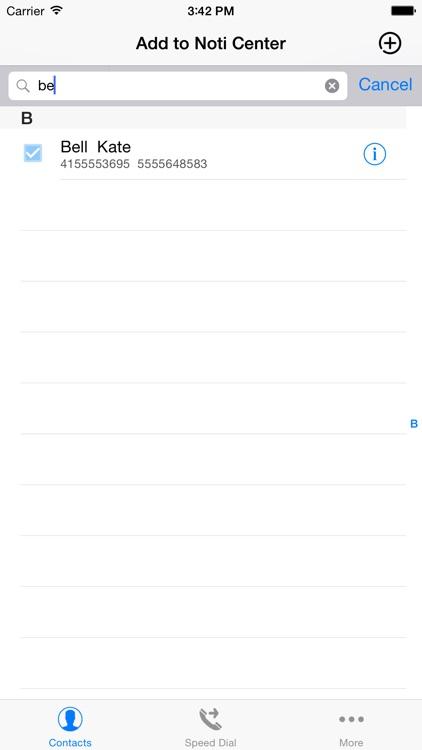 Speed Dial Widget - Call&SMS in Notification Center screenshot-3