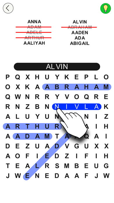 Word Search and Find - Search for Animals, Baby Names, Christmas, Food and more! screenshot two