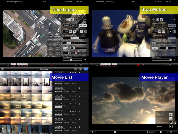 HEx (cam) HD - Video Recording + Time Lapse + Stop Motion - screenshot-3
