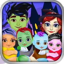Halloween Mommy's Newborn Baby Doctor - My Make-up Salon Girl Games!
