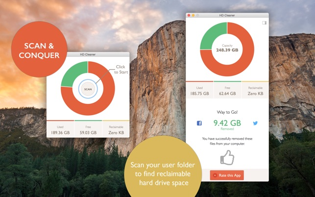 HD Cleaner - Free up Disk Space on your Hard Drive Screenshot