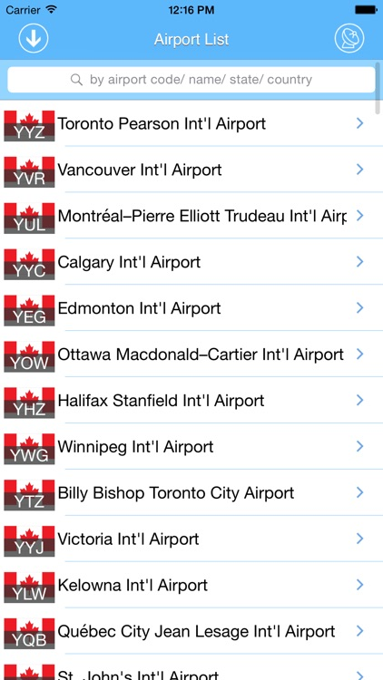 Canada Airport - iPlane Flight Information screenshot-4