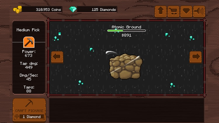 Pickaxe: Adventurous powerful free mining idle game, break stones and discover the blacksmith in you!