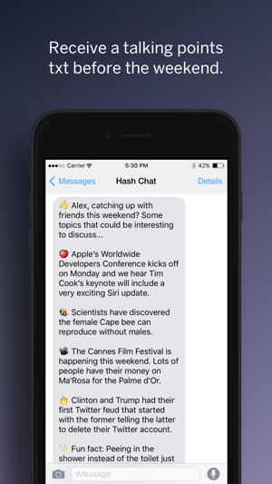 Hash – Today's Talking Points on the App Store