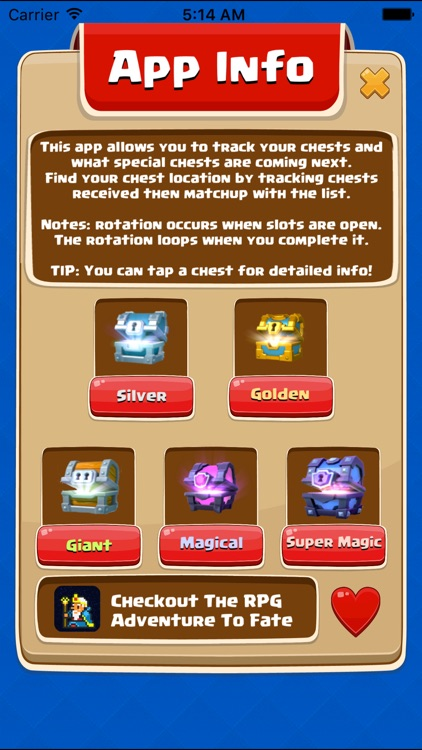 Chest Tracker for Clash Royale - Easy Rotation Calculator