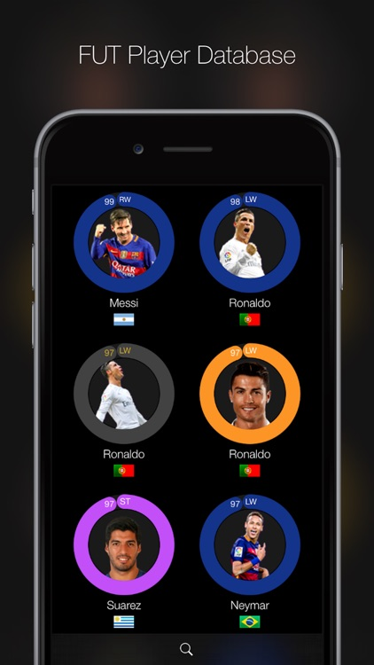 iFUT 16 - Ultimate Team Player Database for FIFA 16 screenshot-0
