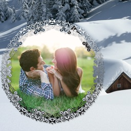 Snowfall Photo Frames - Creative Frames for your photo