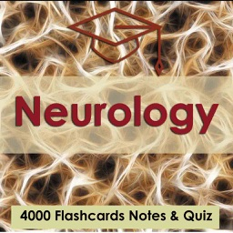 Neurology Test Bank & Exam Review App - 4000 Flashcards Study Notes - Terms, Concepts & Quiz