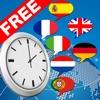 Multilingual speaking clock - free version