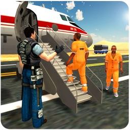Police Airplane Jail Transport – 3D Flight Pilot and Transporter Bus Simulation Game