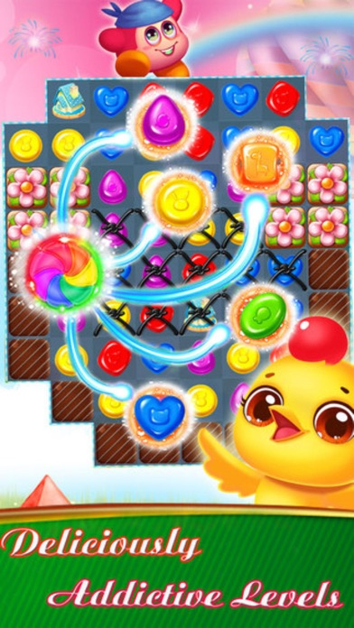Sweet Bakery - 3 match Cookie Mania puzzle splash game screenshot three