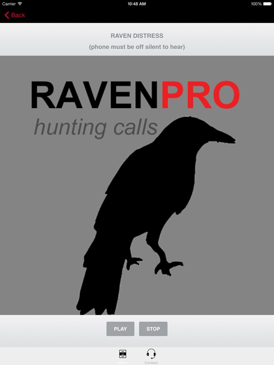 REAL Raven Hunting Calls -- 7 REAL Raven CALLS & Raven Sounds! - Raven e-Caller - Ad Free - BLUETOOTH COMPATIBLE screenshot-0