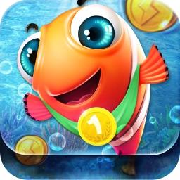 Pop Fishing-family fishing diary game,enjoy lovely ocean fish kingdom fun