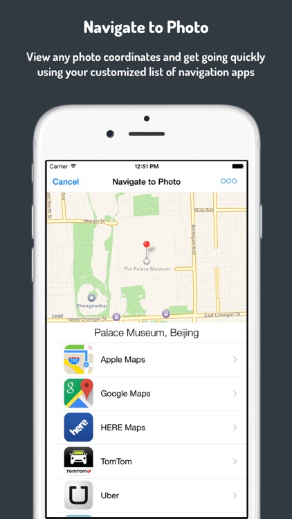 Navigate to Photo with Any Navigation app