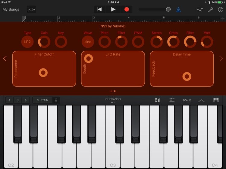 NS1 – Virtual Analog Synth Audio Unit screenshot-3