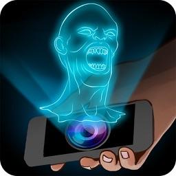 Hologram Vampire 3D Simulator Joke
