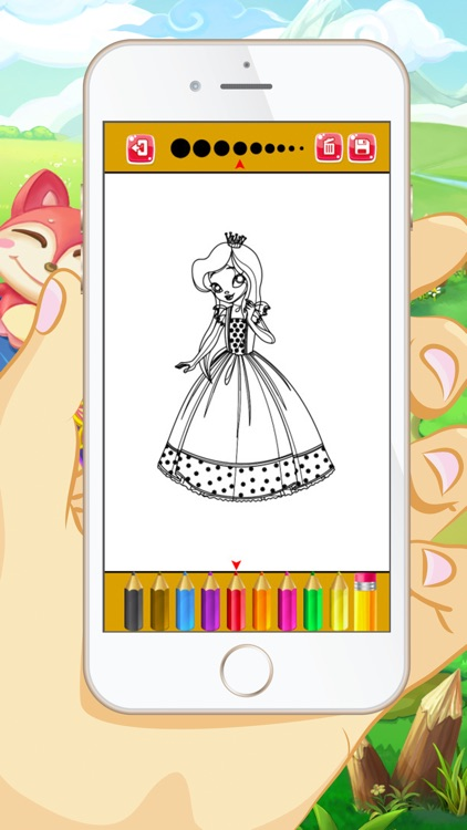 Princess Coloring Book - Educational Coloring Games Free For kids and Toddlers