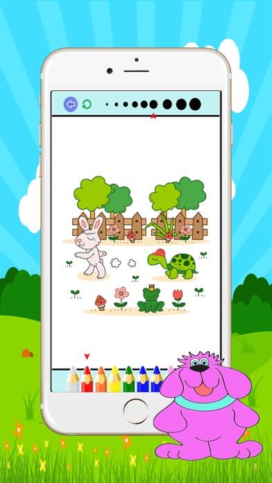 犬と猫の塗り絵 :大人と小さな子供のための無料印刷可能な着色ページスクリーンショット3