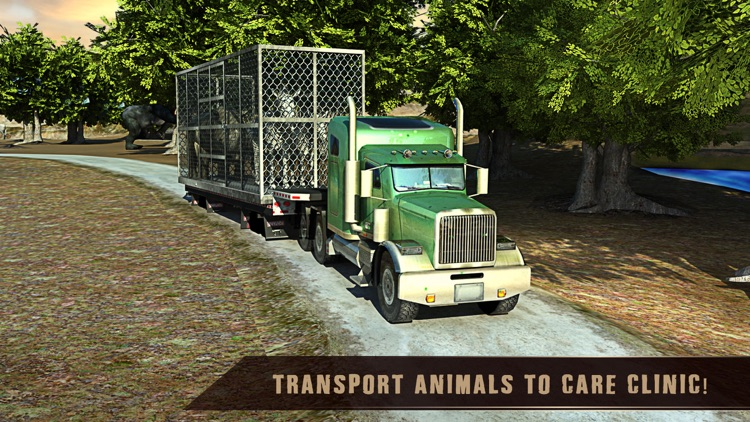 Wild African Animal Rescue Simulator: An Off-Road Transport Truck Game screenshot-3