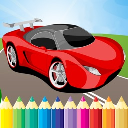 Super Car Coloring Book - Vehicle drawing for kid free game, Paint and color games HD for good kid
