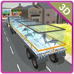 3D Transporter Truck Sea Animal – Ultimate driving & parking simulator game