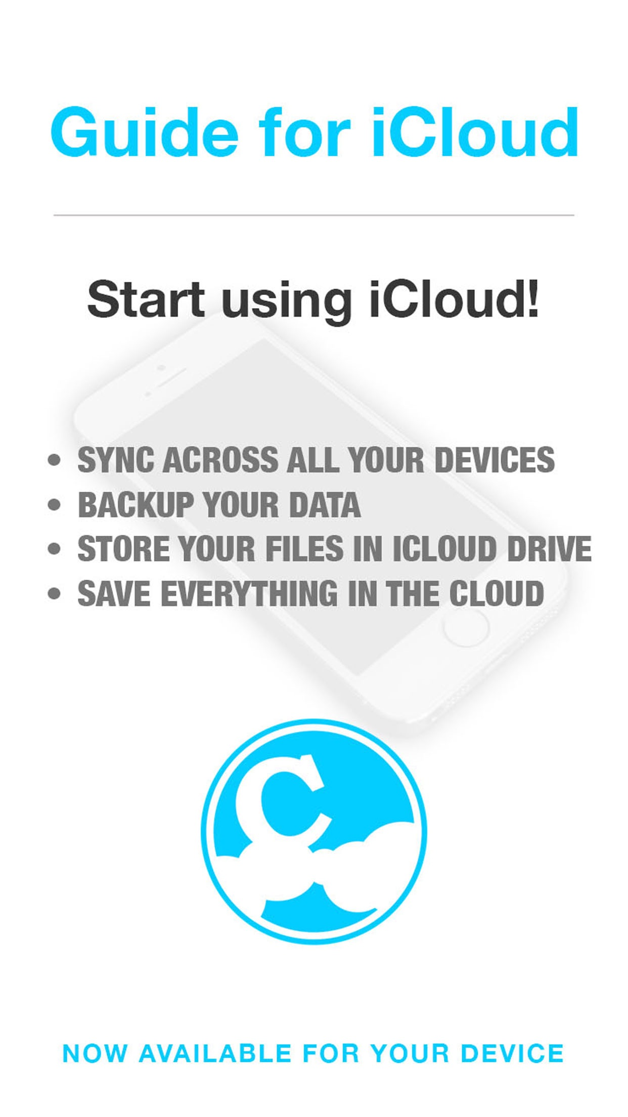 Guide for iCloud & iCloud Drive - Backup & Restore your Photos Screenshot