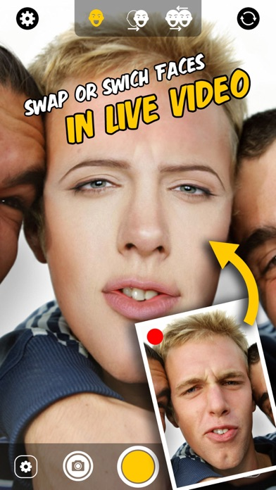 live face change swap switch faces with celebrities friends
