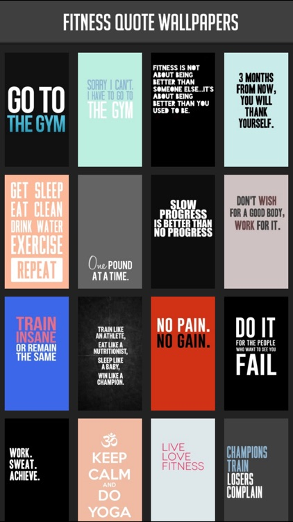 Fitness Quote Wallpapers
