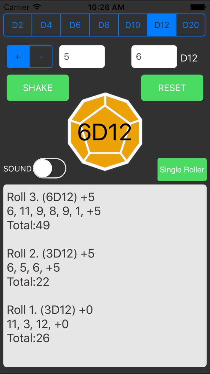 """Dice Roller For """"Dungeons & Dragons"""" Screenshot"""