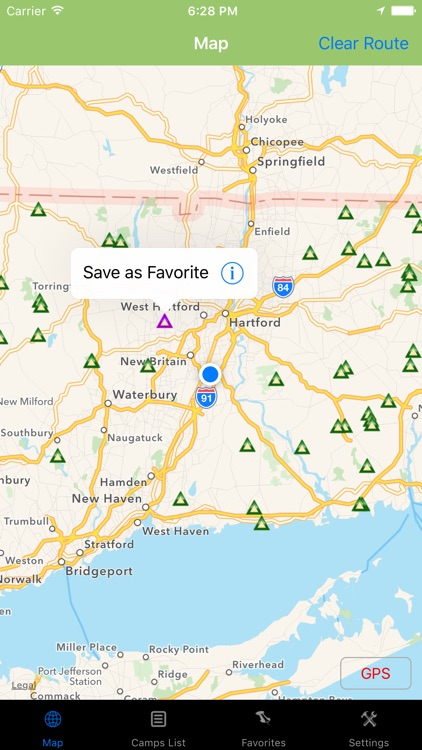 Connecticut – Camping & RV spots.