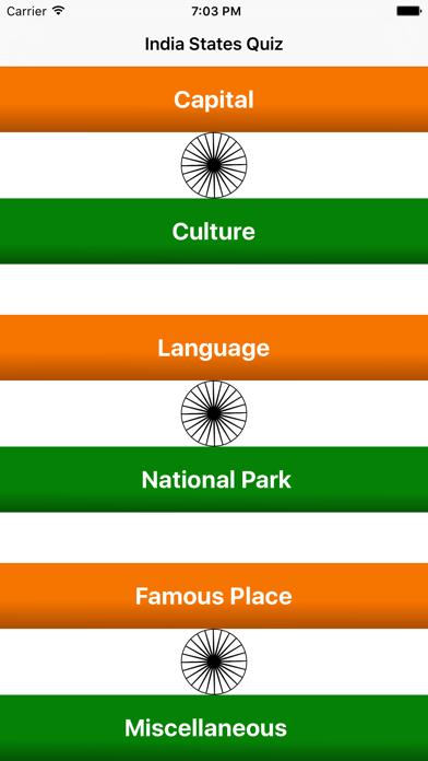 India State Quiz screenshot one