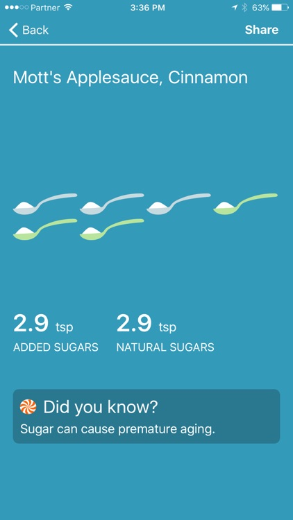 Sugar Rush - Discover Added Sugars in Your Food screenshot-1