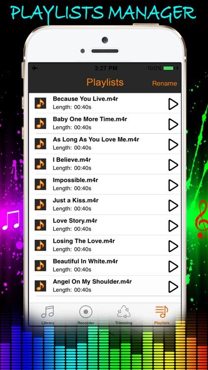 Music Cutter - Audio Trimmer, Voice Recorder & Ringtones Maker Unlimited screenshot-4
