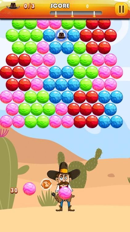 Bubble Shooter Cowboy : Classic Bubble Match 3 Game For Free screenshot-3
