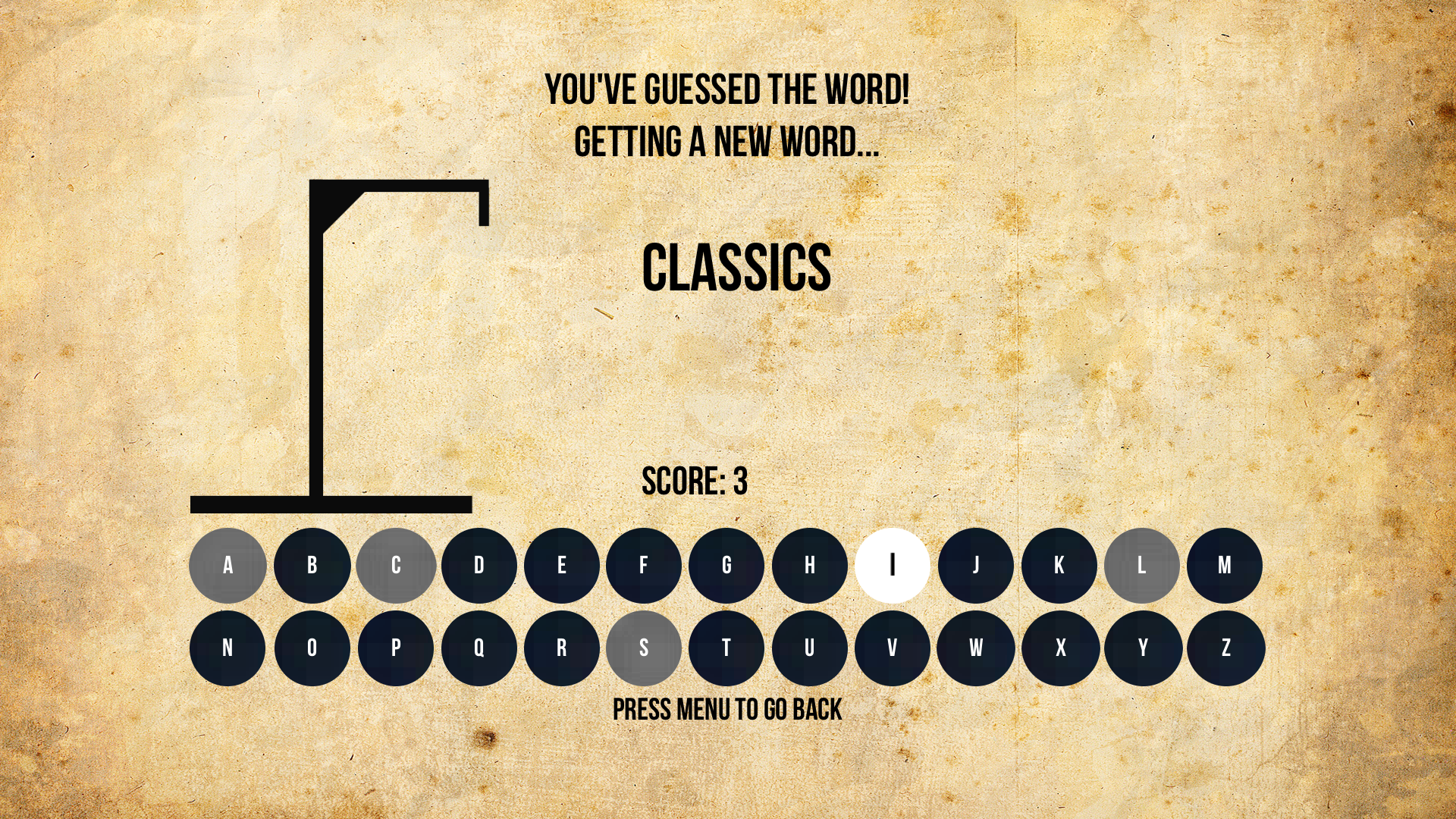 Hangman - A Vocabulary Game screenshot 3