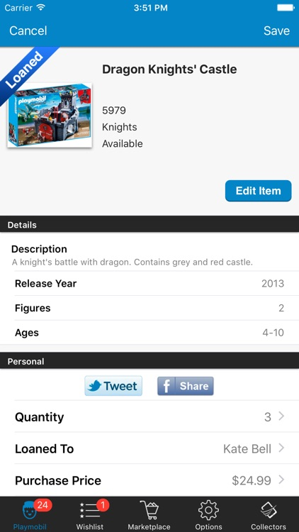 Playmobil Database Sets Organize Manage Inventory screenshot-2