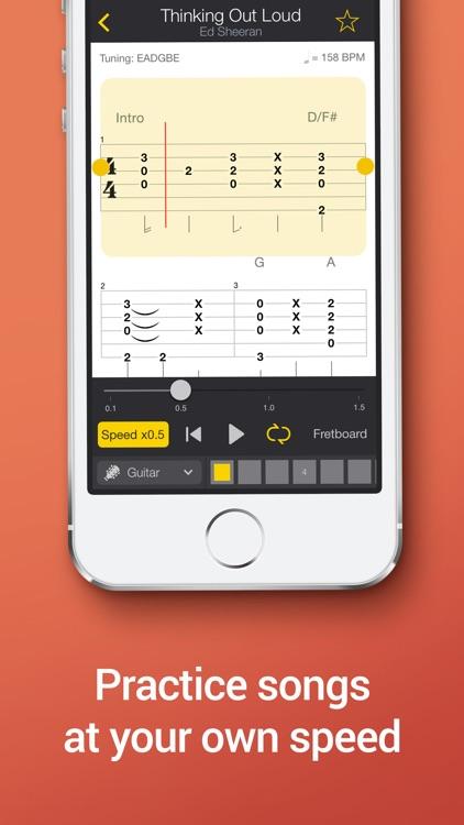 Tab Pro: learn, hear & play multitrack guitar tabs app image