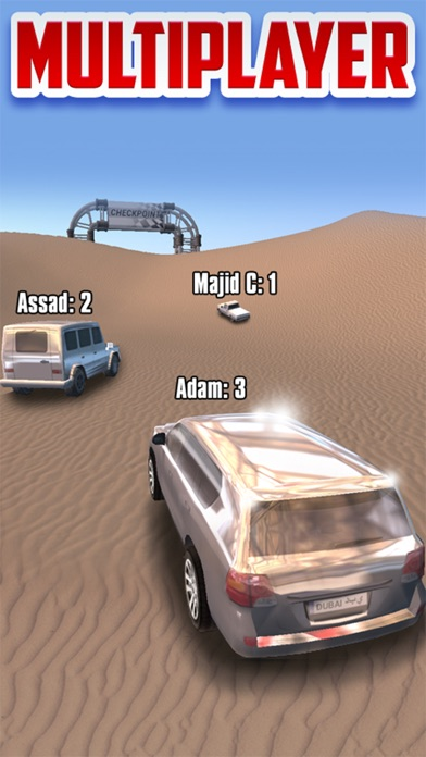 ドバイのドリフト砂漠のレーシング -トラック 運転  ゲーム  に  インクルー ド砂漠のおすすめ画像1