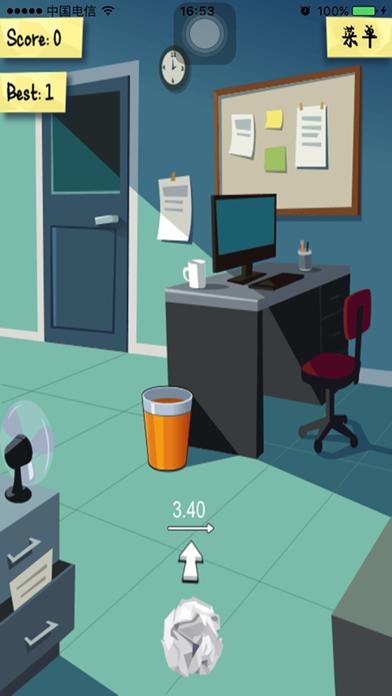 办公室扔纸团-一款考验投篮技巧的小游戏のおすすめ画像3