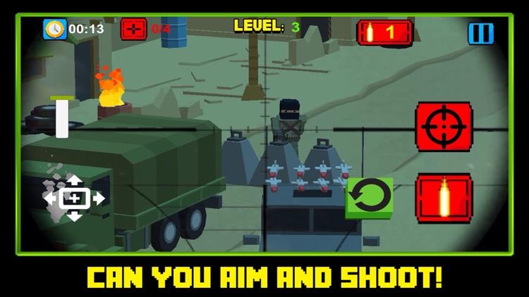 Block Battles City Crime Defense : Pixel war Gun-Craft Sniper Shooting Games screenshot-3