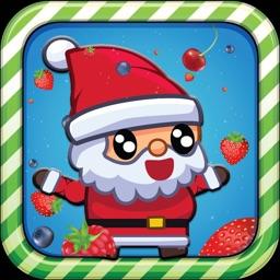 Santa Run Hero : Avoid The Fruit Falling From The Sky