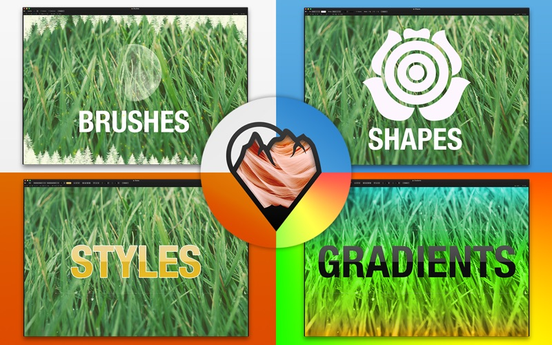 Suite for Pixelmator - Brushes, Shapes, Gradients, Styles for Mac